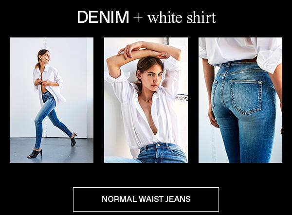 Shop mid waist jeans